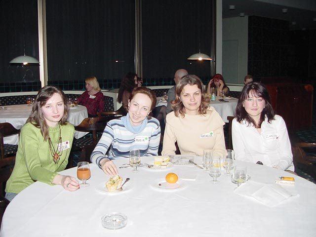 Four lovely Moscow women